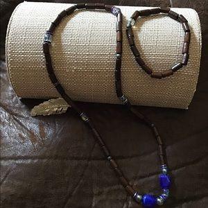 Men/women wooden mix jewelry necklace bracelet set